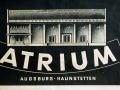 """Reklame-Logo des """"Atrium"""" in Haunstetten"""