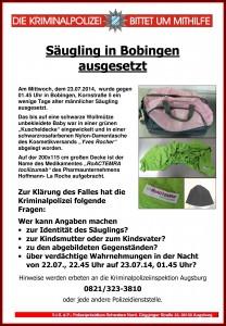 140725_1135_Fahndungsplakat_Ausgesetztes Baby Bobingen