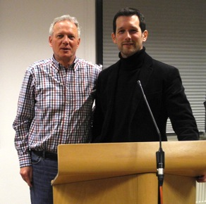 v.l.n.r.: Gemeindeleitung der FeG Augsburg-Süd: Dietmar Knötschke und Pastor Karsten Wenzel