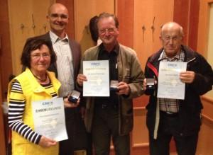 v.l Fr. Starkmann, Hr. Jäckel,  Hr. Wenninger und Hr. Megele
