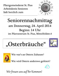 2014_St-Pius_Senorennachmittag_April - Ostern