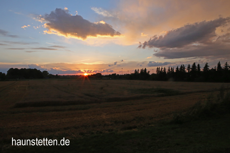 Sonnenuntergang in Haunstetten am 30.07.2016