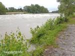 Lechhochwasser bei Haunstetten am 27.07.2017