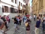 Foto:  Kulturkreises Haunstetten - Mit der 'Lechaufstellung' entwirrten die Teilnehmer das Netz der vielen  Wasserläufe durch die Altstadt