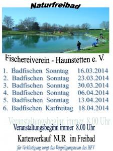 Plakat Badfischen Frühjahr 2014